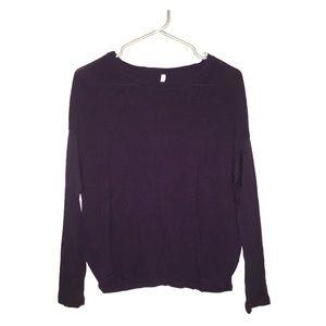 Gap Pure Dolman Long Sleeve Deep Purple Shirt sm